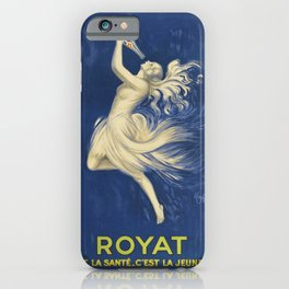 ROYAT Vintage Ad 1923 Mineral Water iPhone Case