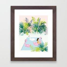 relaxing at resort Framed Art Print