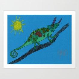 Jackson's Chameleon Art Print