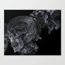Smoking Skull 2 Canvas Print