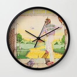 John - Goodbye Yellow Brick Road by Elton Wall Clock