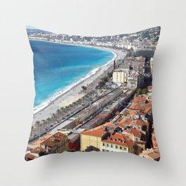 NICE - FRENCH RIVIERA Throw Pillow