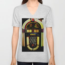 Wurlitzer Jukebox  Unisex V-Neck