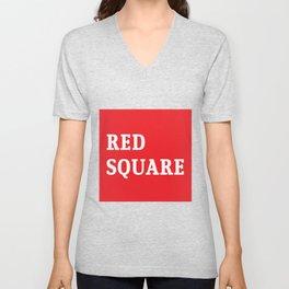 Red Square Unisex V-Neck
