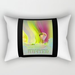 Jupiter - NASA Travel Poster (Alt) Rectangular Pillow