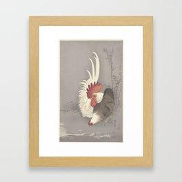 Haan en kip, Ohara Koson, 1900 - 1930 Framed Art Print