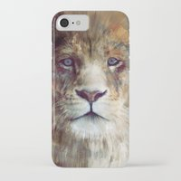 neil young iPhone & iPod Cases featuring Lion // Majesty by Amy Hamilton