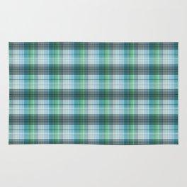 Gray blue checkered pattern . Rug