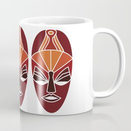 African traditional tribal mask in sunset colors Coffee Mug
