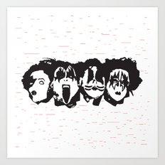 Kiss Loves You #2 Art Print