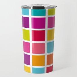 Colorful Square Pattern Travel Mug