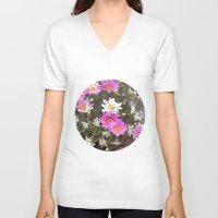 daisy V-neck T-shirts featuring Daisy by LebensART Photography