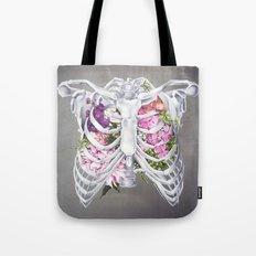 Floral Ribcage Tote Bag