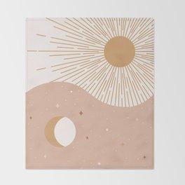 Yin Yang Blush - Sun & Moon Throw Blanket