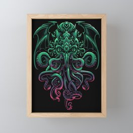 The Call of Cthulhu Framed Mini Art Print