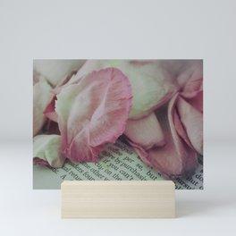 Rose Petals on Page Mini Art Print
