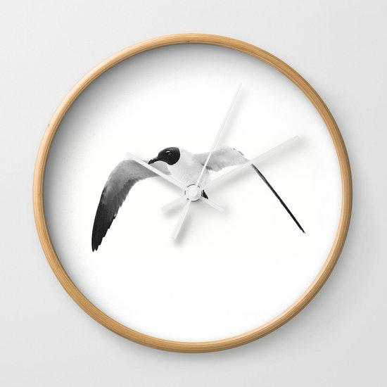 Black Headed Gull By Saribelle Rodriguez Wall Clock By