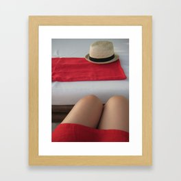 All I See Is Red No. 1 in Boracay Beach, Philippines (2010) Framed Art Print