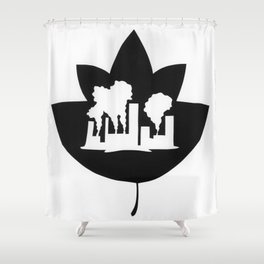 Pollution through Negative Space in Leaf Shower Curtain