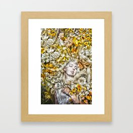 Light Sleeps in the Flowers Framed Art Print