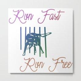 Run Fast Run Free - Dog Agility Metal Print