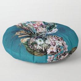 Floral Skull RP Floor Pillow