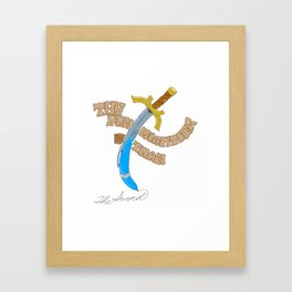 The Sword and the Pen Framed Art Print
