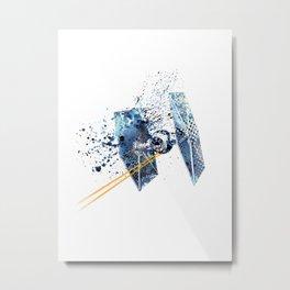 TIE FIGHTER #BLUE Metal Print