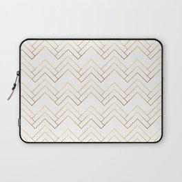 Art Deco Chevron Lines Bg White Laptop Sleeve