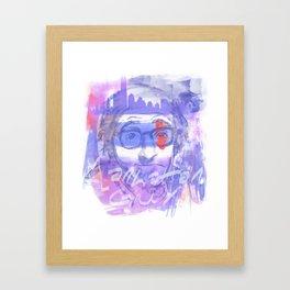 Manhattan guy Framed Art Print