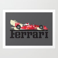 f1 Art Prints featuring Ferrari F1 by Lewys Williams