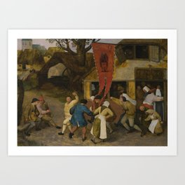 Circle of Pieter Bruegel the Elder A VILLAGE KERMESSE Art Print