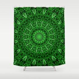 Mandala Garden in Green Tones Shower Curtain