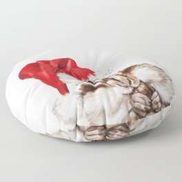 Christmas Squirrel Floor Pillow