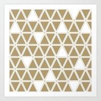 Tan Triangles Art Print