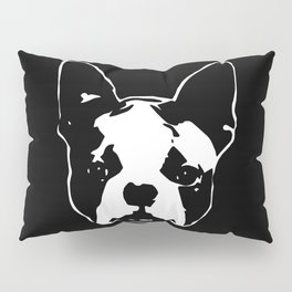 CHRISTMAS WITH YOUR BOSTON TERRIER DOG GIFT WRAPPED FOR YOU FROM MONOFACES Pillow Sham