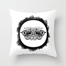 Half Creature Throw Pillow