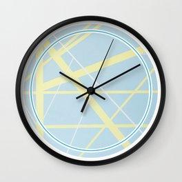 Crossroads ll - circle graphic Wall Clock