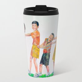 Happy with friends Travel Mug