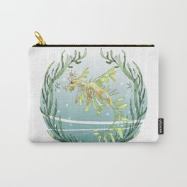 Leafy Seadragon in Green Carry-All Pouch