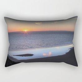 Rhossili Summer Solstice sunset 2018 Rectangular Pillow