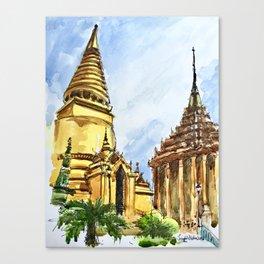 Bangkok Buddhist Temple Thailand Canvas Print