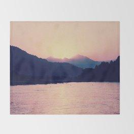 Romantic Pastel Pink Sunset #1 #art #society6 Throw Blanket