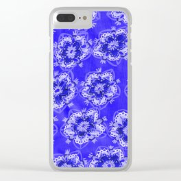 Blue Autumn Violet Clear iPhone Case
