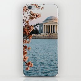 Cherry Blossoms at the Jefferson iPhone Skin