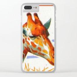 Giraffa Camelopardalis 1 Clear iPhone Case