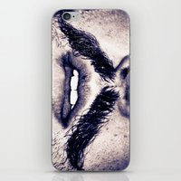 moustache iPhone & iPod Skins featuring Moustache  by Larry Bierce