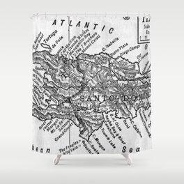 Vintage Map of Haiti (1911) Shower Curtain