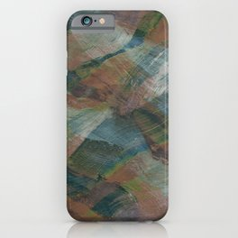 Hand-drawn abstract patterns with colorful waves and brush strokes iPhone Case
