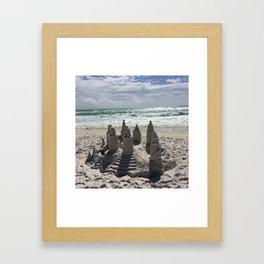 Castles In The Sand Framed Art Print